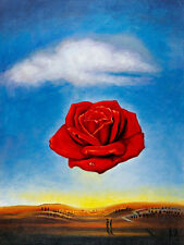 The Meditative Rose A1+ by Salvador Dali High Quality Canvas Print