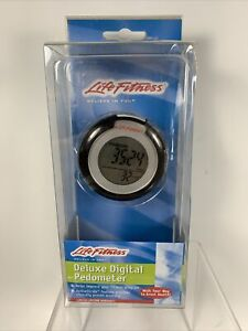 Life Fitness Deluxe Digital Pedometer HJ-151LF New In Package