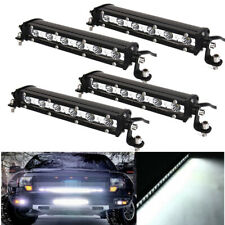 4x 7inch 18W Slim LED Light Bar Work Spot Offroad Fog Driving For Car Truck 4X4