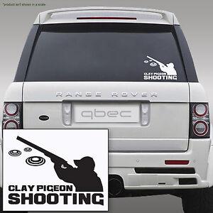 CLAY PIGEON SHOOTING car sticker decal 18cm x 13cm