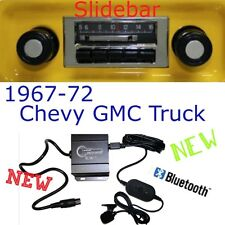1967 68 69 70 71 72 Chevy Chevrolet Truck New Slidebar Slide Bar Radio & Blukit
