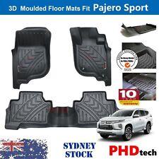 Prime Quality Genuine3D TPE Car Floor Mats fit Mitsubishi Pajero Sport 2015-2020