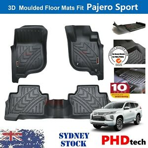 Prime Quality Genuine3D TPE Car Floor Mats fit Mitsubishi Pajero Sport 2015-2021
