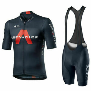 mens cycling Short Sleeve jerseys  ineos cycling jersey and bib shorts sets