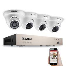 ZOSI 4CH 1080p TVI DVR Enregistreur Vidéo avec 4 Caméra de Surveillance en Dôme