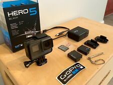 Go Pro Hero 5 Black with Extras; 64 GB card & adapter, 2 batteries
