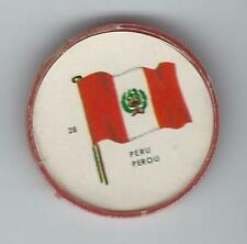1963 General Mills Flags of the World Premium Coins #28 Peru