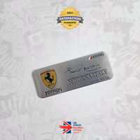 F1 Enzo Ferrari Signed Emblem Limited Special Edition Badge Modena 458 Italia 63