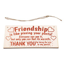 Friendship Sign Best Friend Plaque Gift Shabby Chic Heart & Thank You