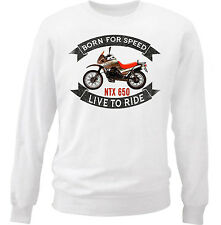 MOTO GUZZI NTX 650 - COTTON WHITE SWEATSHIRT ALL SIZES IN STOCK