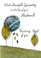 Sympathy On The Loss Of Your Husband Greeting Card Second Nature Just To Say Car