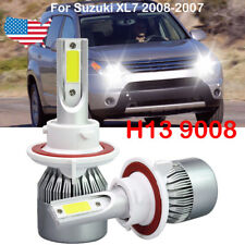 2X H13 9008 Led Headlight Kit Bulb For Suzuki Xl7 2008-2007 6500K White light Us