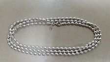 "GENUINE PANDORA S925 ALE Sterling Silver 31"" Oval Bead Necklace *FREE DELIVERY*"