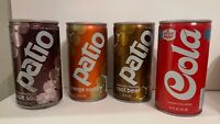 4 Vintage 12oz Soda Pop Cans Patio Hyde Park Cola Root Beer Orange Grape Rare
