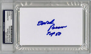 David Pearson SIGNED 3x5 Index Card + Top 50 NASCAR LEGEND PSA/DNA AUTOGRAPHED