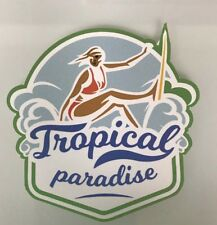 Surfer Girl Sticker - Surf Waves Hawaii Surfing Tropical Paradise Beach