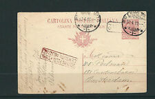 ITALY 1919 WWI MILITARY CENSOR postcard from ITALY to NETHERLANDS