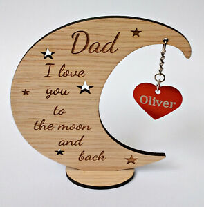 Personalised Father's Day, Mother's Day Gift - Love you to the moon and back