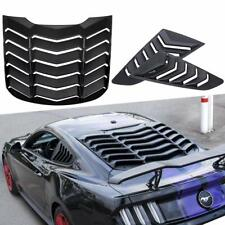 Rear Window Louvers and Quarter Side Window Scoop Louvers for Ford Mustang 15-20