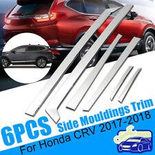 6pcs Stainless Steel Door Body Side Mouldings Cover Trim For Honda CRV 17-18 US