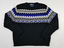 Polo Ralph Lauren RL Knit Sweater Men's Large Crewneck Jumper Pullover 90s VTG