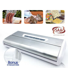 Stainless Steel 175w Vacuum Food Sealer Machine SAA Bonus 10xVacuum Bags 2x Roll