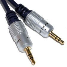 5m SCHERMATO OFC 3.5 MM JACK SPINA Aux Cavo Audio Lead Per Cuffie / MP3 / iPod / auto