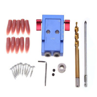 Pocket Hole Jig 3/8'' Step Drill Bit Kit Woodworking For Kreg Joinery Tool