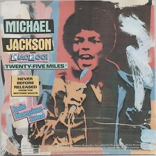 """MICHAEL JACKSON TWENTY-FIVE MILES/UP ON THE HOUSETOP """"CIAO 2001"""" IT 7"""" 45 GIRI"""