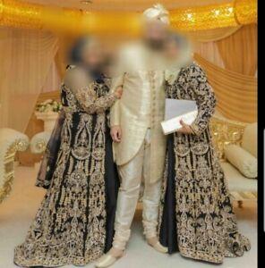 Navy Blue Asian Wedding / Party / Eid Anarkali Jacket Dress