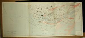 The Port of / Havre IN 1930 Plan Detailed Estuary Basin Bellot Dock Vauban 104