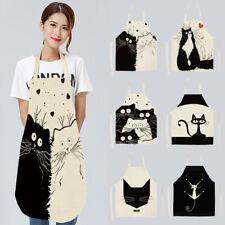 Cleaning Clothes Kitchen Apron Aprons Cartoon Cat Cotton Linen SleevelessKitchen