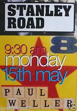"Paul Weller ""Stanley Road"" U.K. Promo Poster-The Jam,New Wave, Music,Mod Revival"