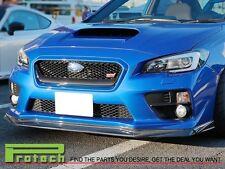 For 2015-2016 Subaru WRX STI VR Style Carbon Fiber Front Bumper Lip CF