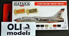 US Navy & USMC 1950s to 1970s High-Viz Camouflage Paint Set 6x17ml - HATAKA AS18