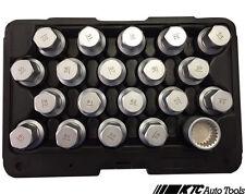 PORSCHE & TOUAREG WHEEL LOCK SCREW SOCKET KIT (20 PCS) T10190