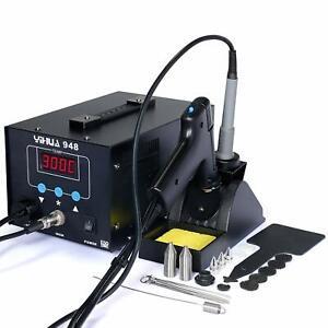 LCD Soldering Iron Desoldering 2in1 Station Vacuum Pump Gun YIHUA 948 ESD Safe