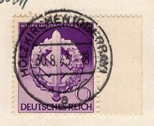 Germany Holzkirchen 1943 SA Stamp & Blank Selvage Postcard 9r