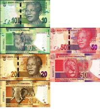 South Africa 10+20+50 Rand 2014 year BrandNew Banknotes set 3PCS