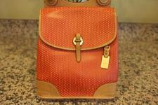DOONEY And BOURKE Perforated Leather CABRIOLET CABRIO Red Backpack (pu120