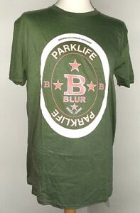 BLUR PARK LIFE BEER MAT T SHIRT MEN TOP MED LARGE XL OFFICIAL BAND TEE