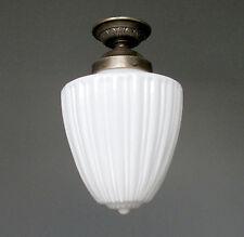 Deckenlampe Antik Lampe Weiss Hängelampe Jugendstil Messing Tropfenlampe Artdeco