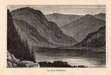 DEUTSCHSLAND LAC DE LA FORET NOIRE IMAGE 1882 OLD PRINT