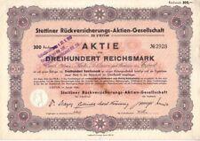 Stettiner Rückversicherungs AG 1934 Stettin/ Szczecin
