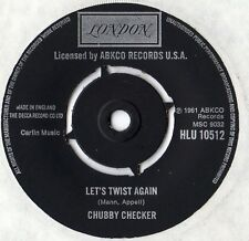 "Chubby Checker - Let's Twist Again / The Twist 7"" Single c1970s"