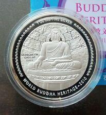 2010 Bhutan Buddha Budha Heritage Seukgoram Grotto Korea 1oz Silver Proof Coin