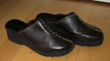 Hush Puppies Womens Brown Leather Clogs Mules Slip-On Shoes Juliana 8