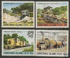 CHRISTMAS IS 1981 PHOSPHATE INDUSTRY Part 3 4v  MNH
