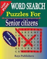 WORD SEARCH Puzzles for Senior Citizens (Large Print): Word Search Puzzles...