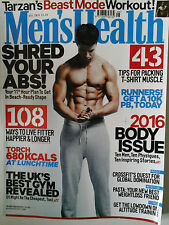 Men's Health - AUGUST 2016  TARZAN'S BEAST MODE WORKOUT,ALEXANDER SKARSGARD